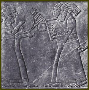 ancient Hebrew Israelies playing music
