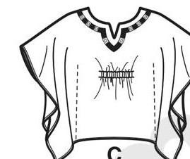 1674line cape tunic