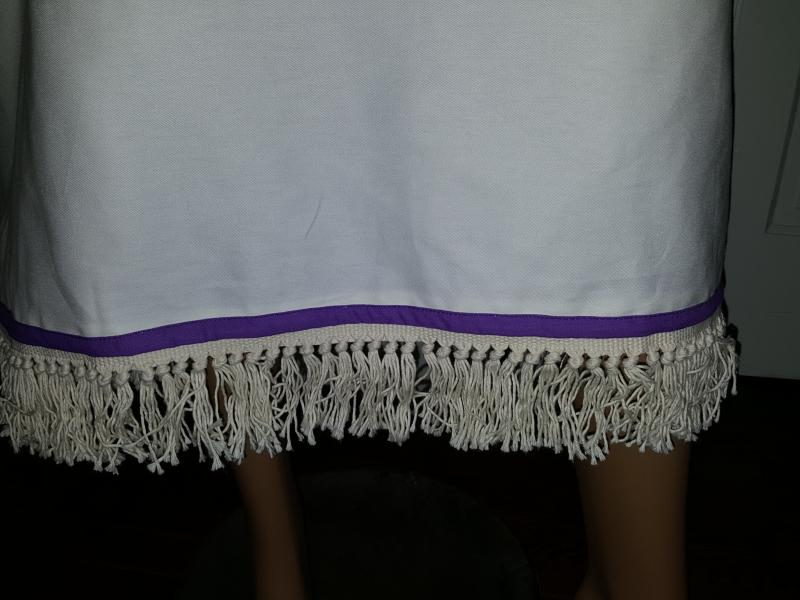 Knotted Tzitzit Fringes & Royal Violet Ribbon is Fashion ...